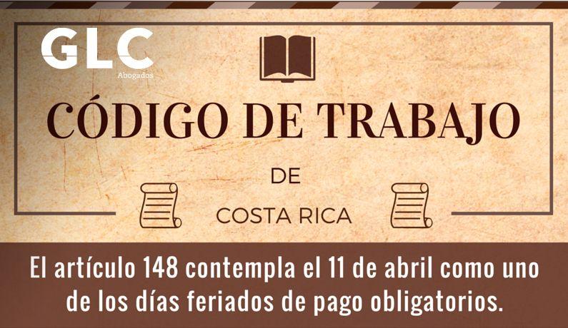 Dias feriados Costa Rica Codigo trabajo